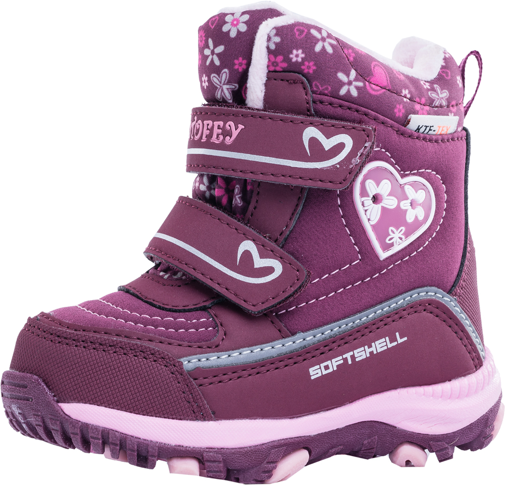 e34d1773 Купить ботинки для девочки комбинированный верх мех шерстяной зимние ...